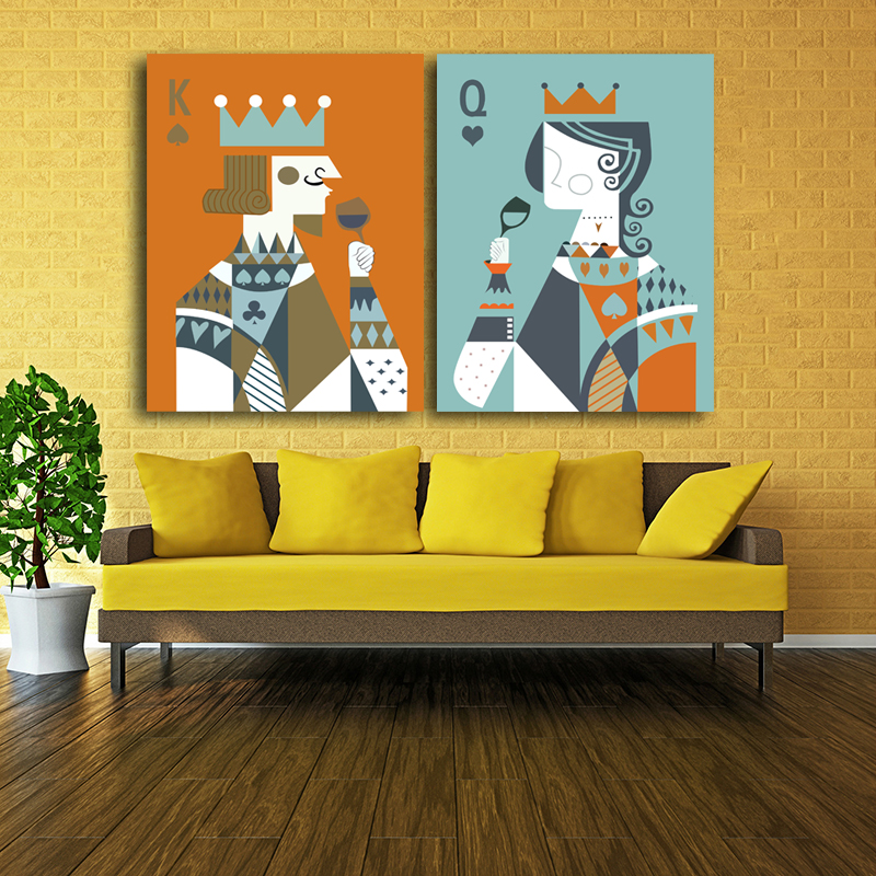 Queen King of poker home decor Canvas Painting wall Art ideas prints ...