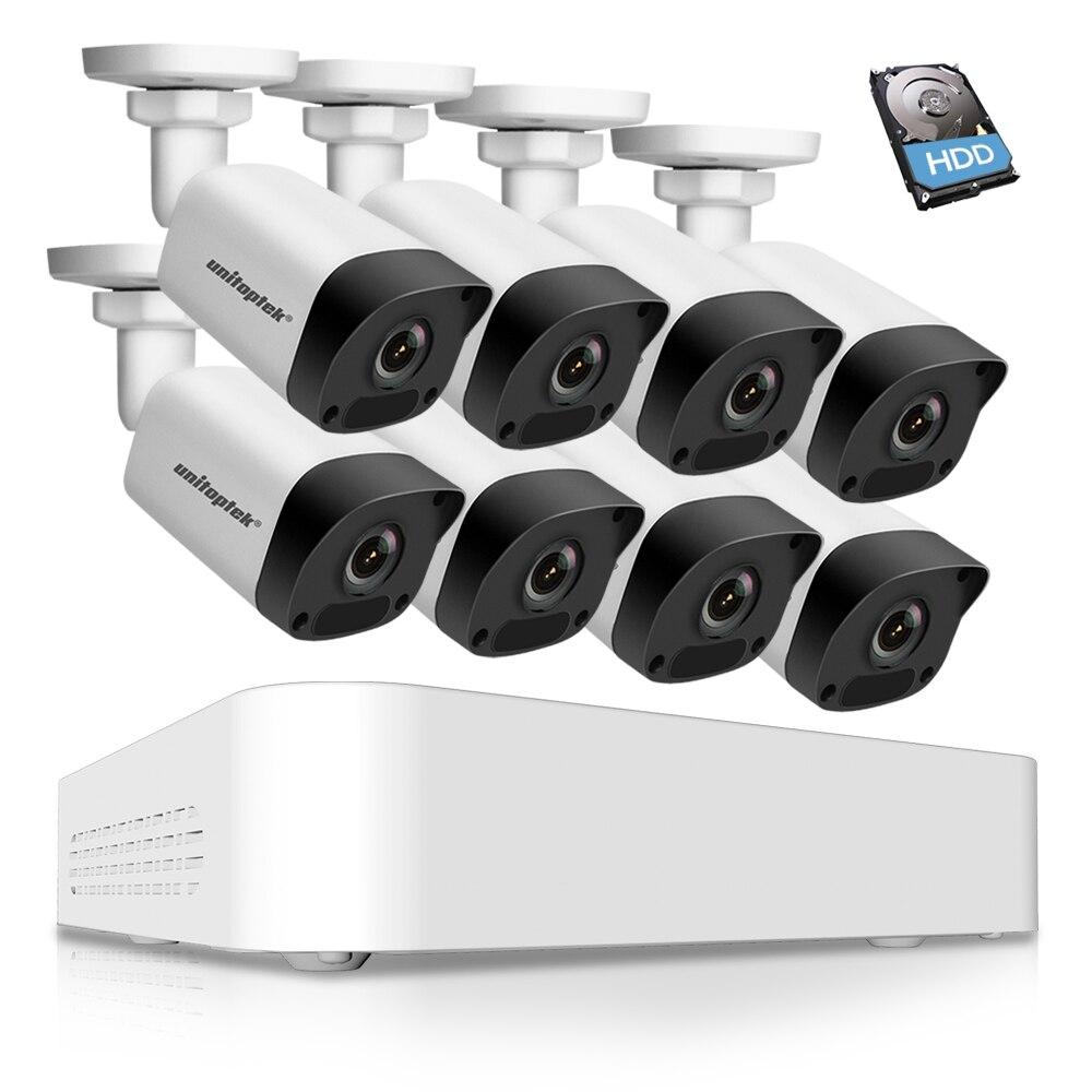 Ultra 265 8CH 1080P POE NVR Kit CCTV Security System 8PCS 2.0MP Bullet POE IP Camera P2P Outdoor Video Surveillance System Set