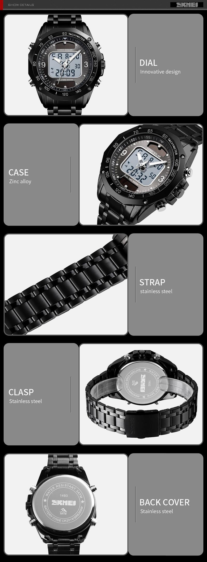 HTB1VlecUMHqK1RjSZFEq6AGMXXaN Solar Men Military Sport Watches Men's Digital Quartz Clock Full Steel Waterproof Wrist Watch relojes hombre 2019 SKMEI