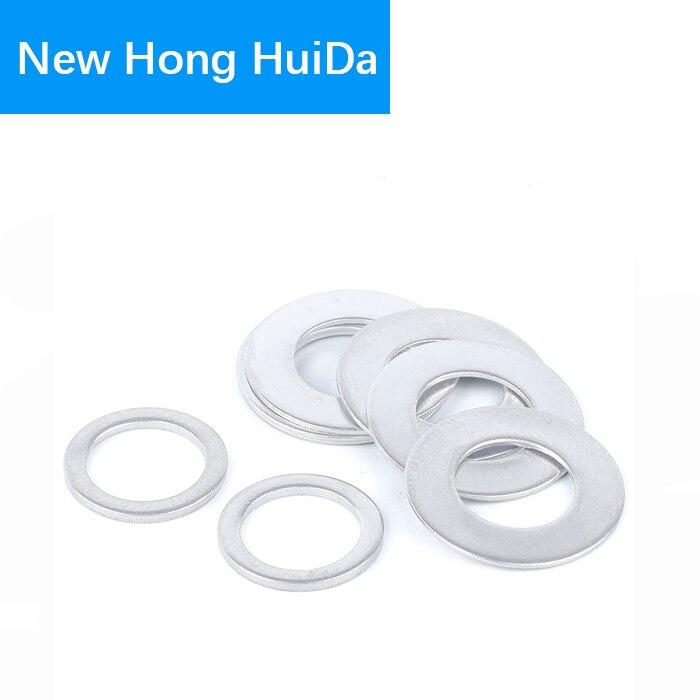 Aluminum Flat Washer Sealing Ring Round Gasket Thickness M6 M8 M10 M12 M14 M16 M18 M20 M22 M24Aluminum Flat Washer Sealing Ring Round Gasket Thickness M6 M8 M10 M12 M14 M16 M18 M20 M22 M24