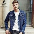 Pioneer Camp roupas de marca homens jaqueta jeans primavera outono alta qualidade de algodão azul moda motocicleta masculino jaqueta jeans 677156