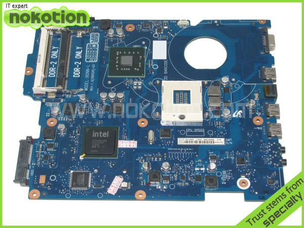 цена на NOKOTION LAPTOP MOTHERBOARD for SAMSUNG R519 BA92-05696A BA41-01105A INTEL GL40 GMA X4500 DDR2 Mainboard free shipping