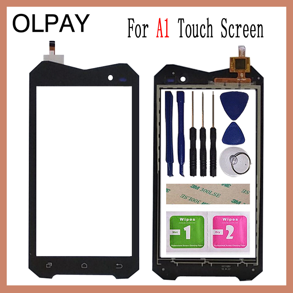 OLPAY 4.5 For Geotel A1 3G Touch Screen Digitizer Panel Repair Parts Touch Screen Front Glass Lens Sensor Free Adhesive+WipesOLPAY 4.5 For Geotel A1 3G Touch Screen Digitizer Panel Repair Parts Touch Screen Front Glass Lens Sensor Free Adhesive+Wipes