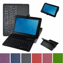 "New Soft Removable Bluetooth Keyboard PU Leather Case Cover For 10.1""Dell Venue 10 Pro 5055 2015 Tablet"