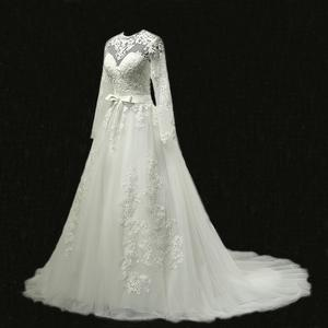 5b6595ed056 MN026 Vestido De Noiva 2018 Long Sleeves Lace Wedding Dresses Bridal A Line  Vintage Wedding Gown Robe De Mariage Bridal Dresses