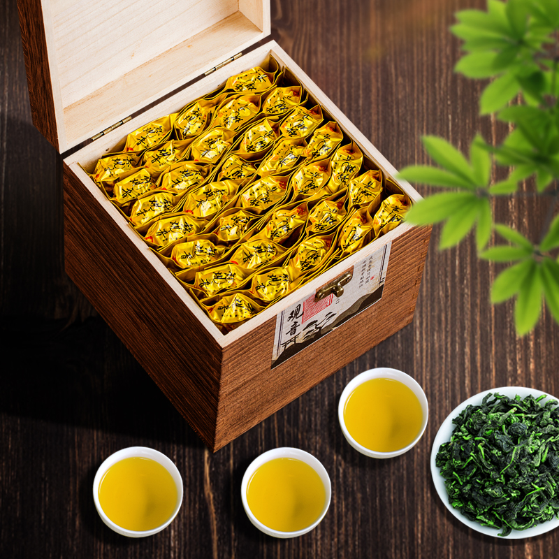 Authentic Anxi Tie Guan Yin Gift Box 500g/box Aromatic Oolong Cha Tea Small Bag In Bulk