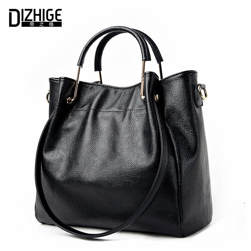 DIZHIGE Brand 2017 New Genuine Leather Bags Women High Quality Sheepskin Women Handbags Designer Shoulder Bags Ladies Sac Femme dizhige brand lock women messenger bags flap crossbody bags women high quality pu leather shoulder bag ladies new sac femme 2017