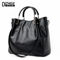 DIZHIGE Brand 2017 New Genuine Leather Bags Women High Quality Sheepskin Women Handbags Designer Shoulder Bags