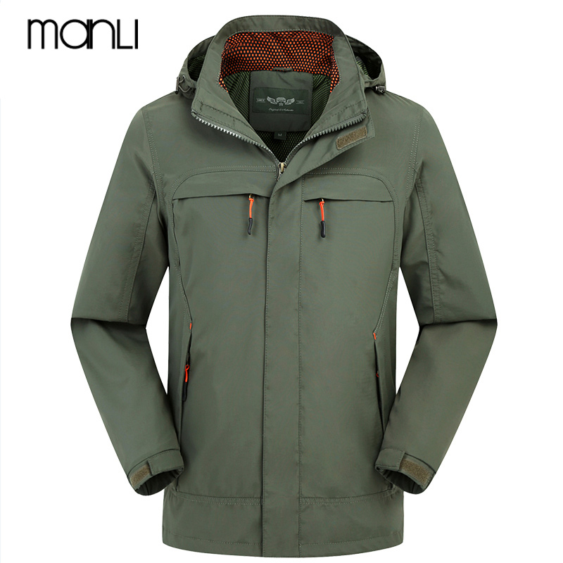 MANLI Men Outdoor Waterproof Flight Pilot Coat Hoodie Men Military Jacket Windproof Coat Hiking Rain Camping Fishing Clothing цена и фото