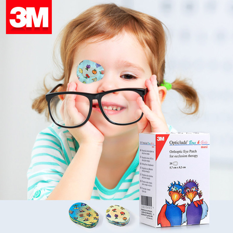 20 PCS/Box Eye Patch Band Aid Medical Eye Pad Adhesive Bandages Part-time Occlusion therapy For Amblyopia Kids children 3m 20 pcs box eye patch band aid medical eye pad adhesive bandages part time occlusion therapy for amblyopia kids children
