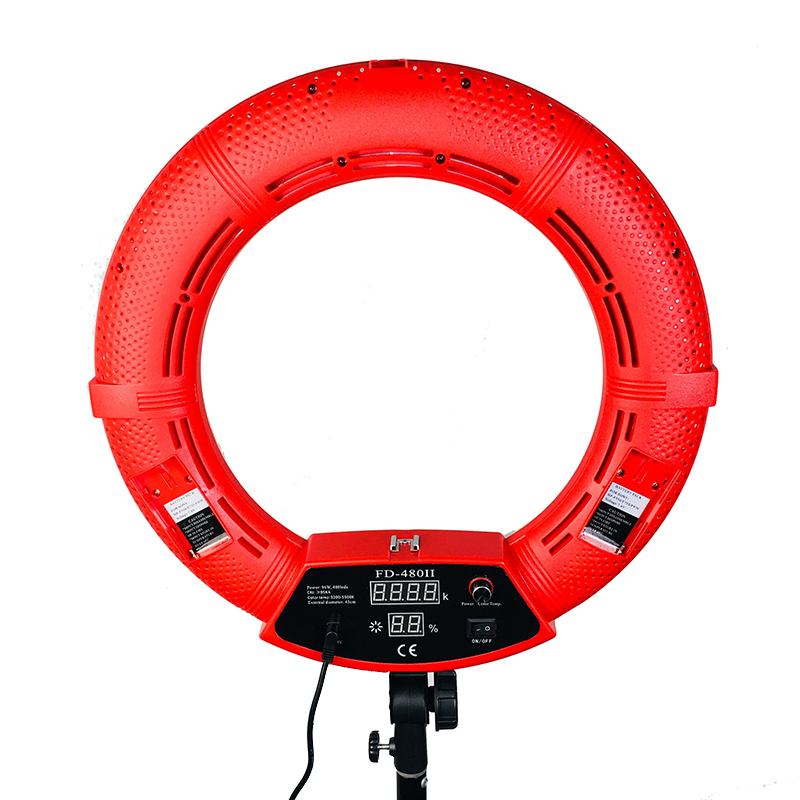 Yidoblo FD 480II Red Bi color Photo Studio Macro Ring Light LED Video Light Lamp Photographic