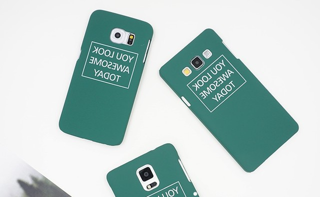 green letters thin hard case for samsung galaxy s8 plus s7 edge s6
