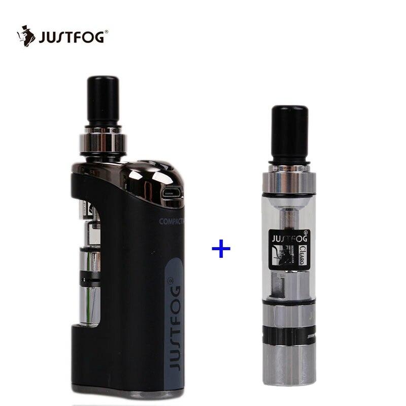 Original Justfog Compact 14 Kit de démarrage vaporisateur 1500 mah batterie Cigarette électronique avec Q14 atomiseur 510 ego fil Vape stylo