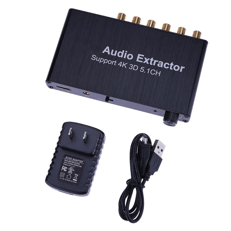 US HDMI Audio Extractor Support 5.1CH 4K 3D HDMI to HDMI AC-3/DTS  audio decoder for HDTV, Blu-rayDVD, DVD, PS3, Xbox 360 us hdmi audio extractor support 5 1ch 4k 3d hdmi to hdmi ac 3 dts audio decoder for hdtv blu raydvd dvd ps3 xbox 360