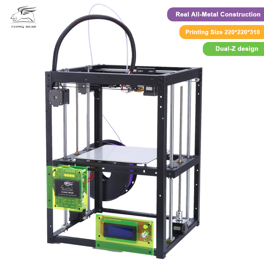 Free shiping Flyingbear  P905H DIY 3d Printer kit Full metal Large printing size High Quality Precision Makerbot Structure Gift original anycubic 3d pinter kit kossel pulley heat power big size 3d printing metal printer fast shipping from moscow