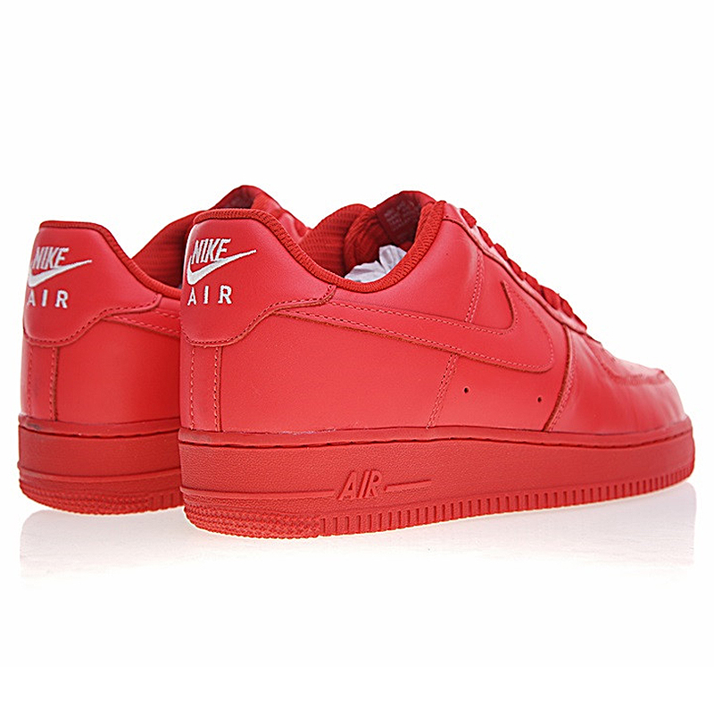 US $74.46 49% OFF|NIKE AIR FORCE 1 AF1 Men's and Women's Skateboarding Shoes, Red, Lightweight Wear resistant Non slip Breathable AH6512 991 in