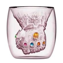 Double-layer glass drinking cup high temperature resistant fist shape inner bladder