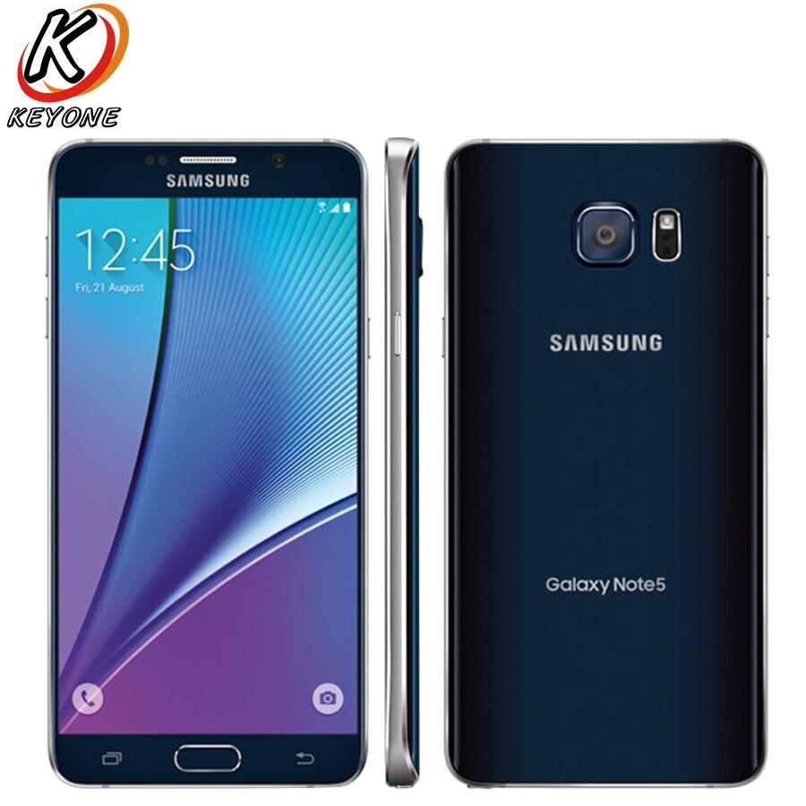 Originale AT & T versione di Samsung Galaxy note 5 Note5 N920A 4g LTE Mobile Phone 5.7 pollice 4 gb di RAM 64 gb ROM Octa Core 16MP Singola SIM