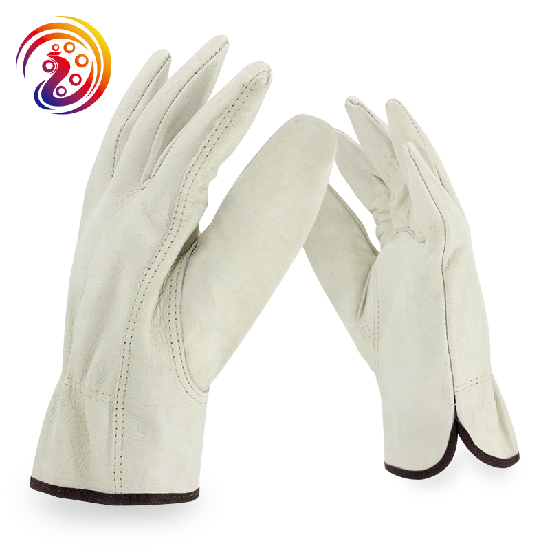 цена на OLSON DEEPAK 100% Cowhide Leather Work Gloves Factory Drivers Handling Industry Gardening Working Glove HY002