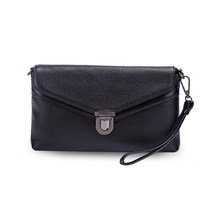 Fashion Women's Messenger Bags Wrist Strap Phone Clutch Bag Genuine Leather Bag Small Ladies Shoulder Bag Flap Purse Handbag(China)