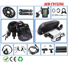 Free taxes duty Bafang BBS-HD 48V 1000W mid crank motor kits with tiger shark 48V 16.5Ah Li-ion battery pack for moutain bike цена