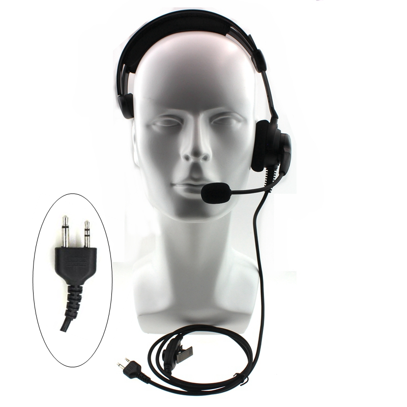 2 Pin Radio Headphone With Swivel Boom Mic  Headset For Midland 2 Pin Walkie Talkie G6 G7 GXT550 GXT650 LXT80 LXT Two Way Radio