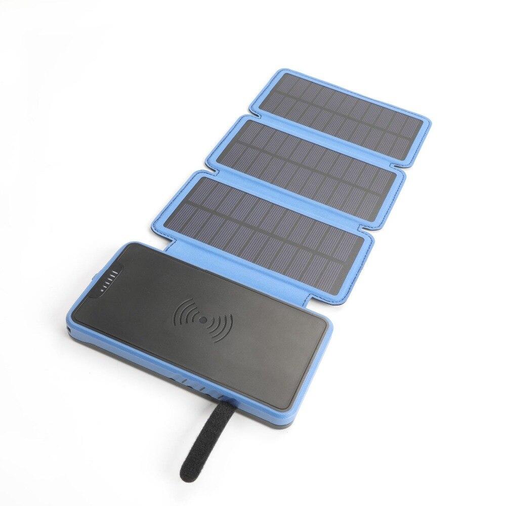 20000 mah batterie Portable solaire externe banque de batterie intégré sans fil banque d'alimentation de chargeur Portable QI chargeur sans fil pour XIAOMI MIX3