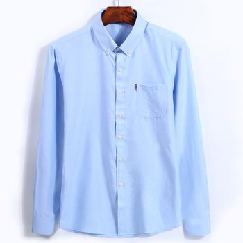 Nowy projekt gorąca sprzedaż 2017 Oxford koszule z długim rękawem skręcić w dół kołnierz Slim Fit stałe męskie na co dzień nie żelaza koszule wysokiej jakości tanie i dobre opinie GREVOL COTTON Włókno poliestrowe Pełne KOSZULE FRAKOWE Wykładany kołnierzyk Elegancko na luzie shirts REGULAR Jednorzędowe