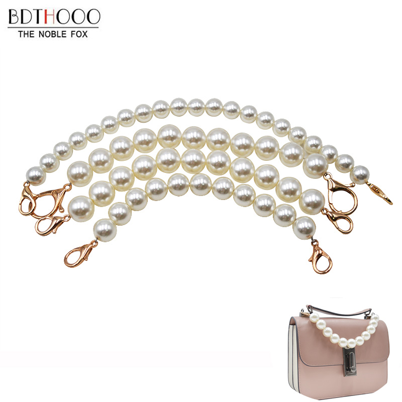 Pearl Beaded Short Bag Straps 22cm 30cm Short Shoulder Belt Purse Handle Diy Chain Bag Accessories