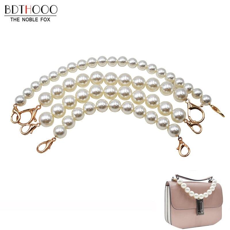 Pearl Beaded Short Bag Straps 22cm 30cm Short Shoulder Belt Purse Handle Diy Chain Bag Accessories