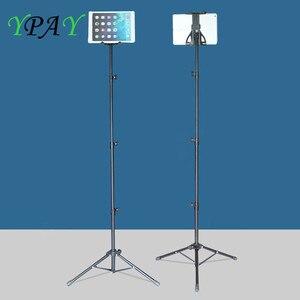 YPAY 130cm trípode de rotación 7-13 pulgadas soporte de tableta soporte del trípode soporte para Ipad aire Mini 2 3 4 tableta para IPAD Air, Ipad Pro 12,9