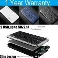 USAMS 10000mah Power Bank Slim 10000 Mah Powerbank 2 Ports 2 1A For IPhone IPad Xiaomi