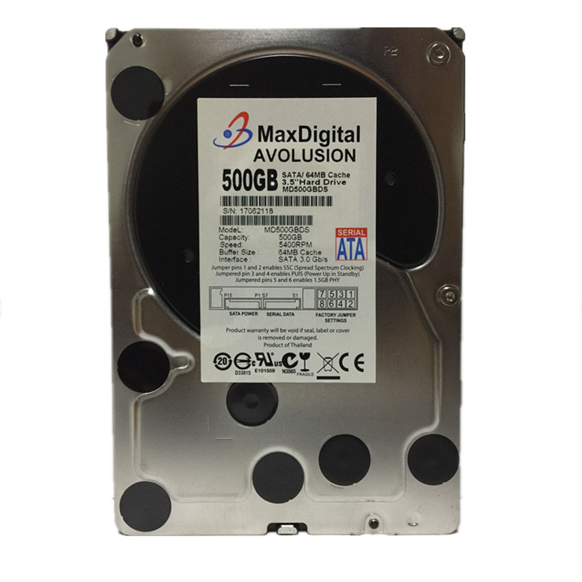 500GB HDD SATA 3.5inch MaxDigital/MD500GB SATA 3.5 Enterprise Grade Security CCTV Hard Drive Warranty for 1-year hard drive x274a 146g 10k fc x274 3 5 scsi one year warranty