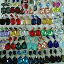 JURAN, высококачественные серьги-капли с блестящими кристаллами для женщин и девочек, разноцветные стразы, висячие серьги, свадебные вечерние ювелирные изделия