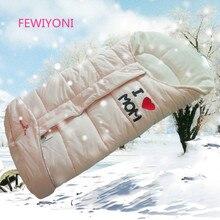 FEWIYONI/осенне-зимний теплый спальный мешок для малышей, спальный мешок для детской коляски, мягкий теплый конверт, спальный мешок для новорожденных
