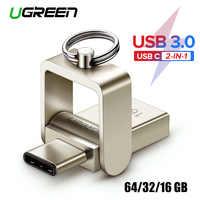 Ugreen unidad Flash USB 3,0 USB-C OTG Pendrive 64 32GB para Samsung Galaxy S9 Plus Nota 9 para Xiaomi Redmi5 de memoria stick Pen Drive