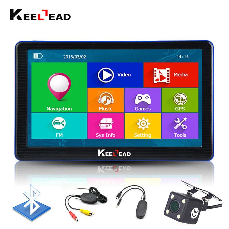 Prix pour Keelead 7 pouce voiture gps navigation bluetooth 8 gb avec vue arrière caméra FM MP3 MP4 256 MB DDR/800 MHZ Cartes Détaillées avec Mise À Jour Gratuite