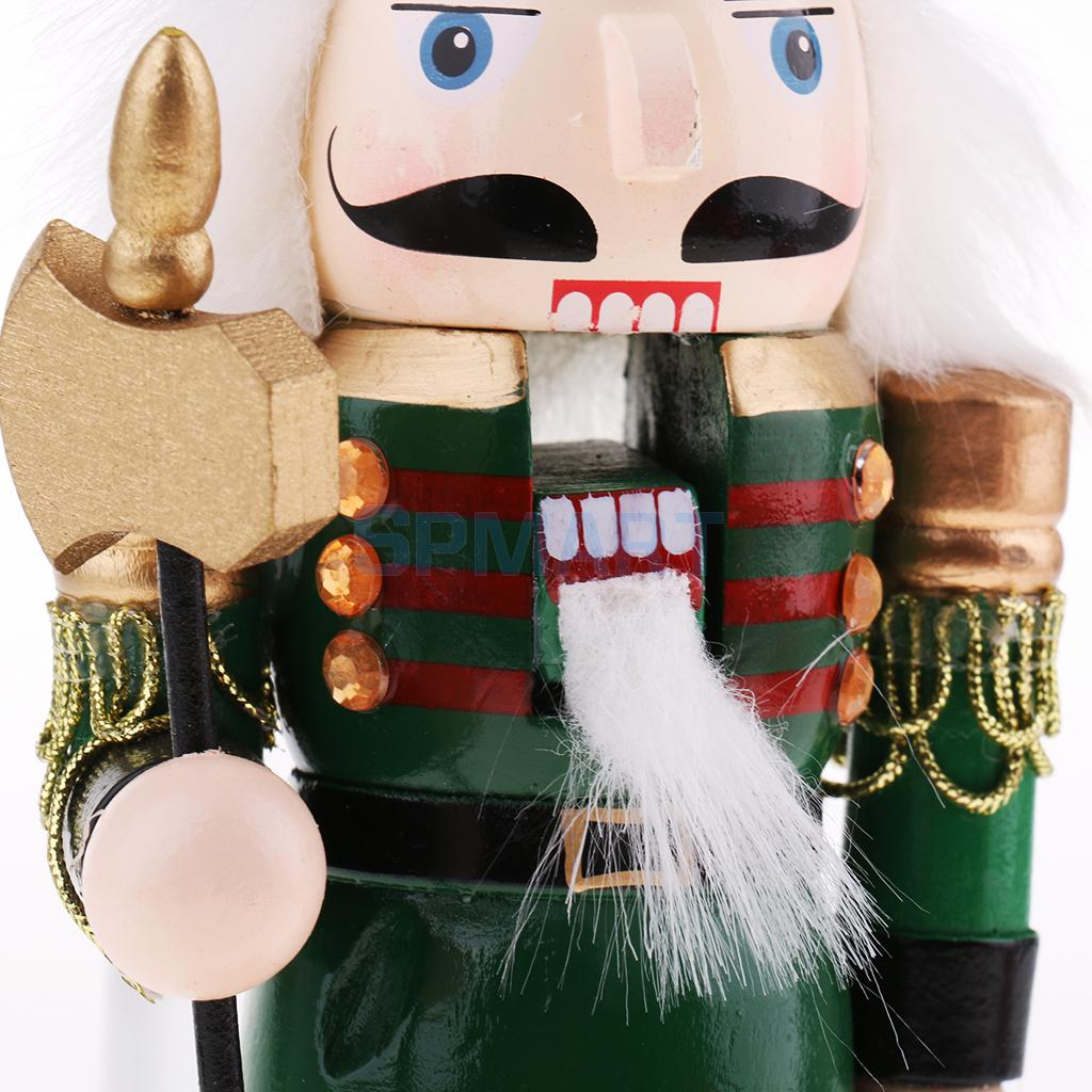 Handpainted 20cm Wood Nutcracker Soldier Figures Figurine Xmas Ornament Gift