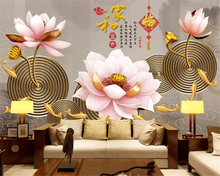 beibehang Custom fashion classic fresh embossed peacock magnolia background decorative painting wall papers home decor wallpaper