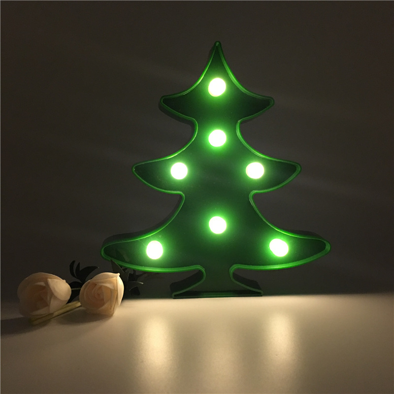 christmas tree 3d shape led night light coconut tree desk table lamp