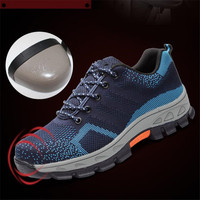 Fine Zero 2017 Mens Casual Breathable Plus Size Steel Toe Caps Working Safety Shoes Outdoors Male
