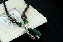 Dreamcatchers Necklaces Classic Women Pendant Retro Green Cat's Eye Stone