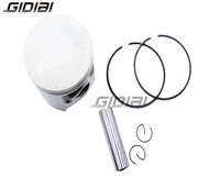 Motorcycle Piston Kit with Pin Rings Clips Set For Yamaha DT200 DT 200 Oversize Bore 66.25 mm