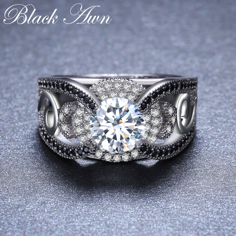 [BLACK AWN] 5.4Gram Genuine 925 ստերլինգ արծաթյա - Նուրբ զարդեր - Լուսանկար 3