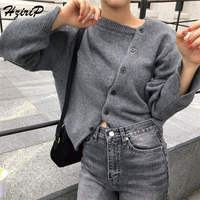 HziriP 2018 Autumn Fresh Women Simple Sweet Stylish Cardigans Knitted Long Sleeve Fashion Female Tide Ladies Sweater 2 Colors
