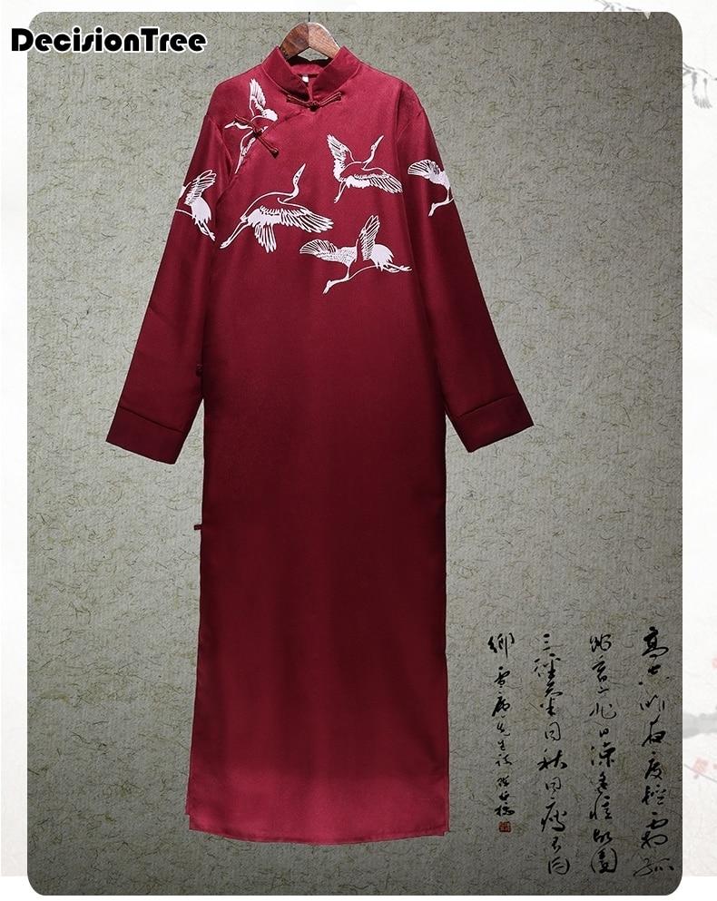 2020 Red Men Sexy Silk Rayon Kimono Bathrobe Gown Chinese Style Male Robe Nightgown Sleepwear Plus