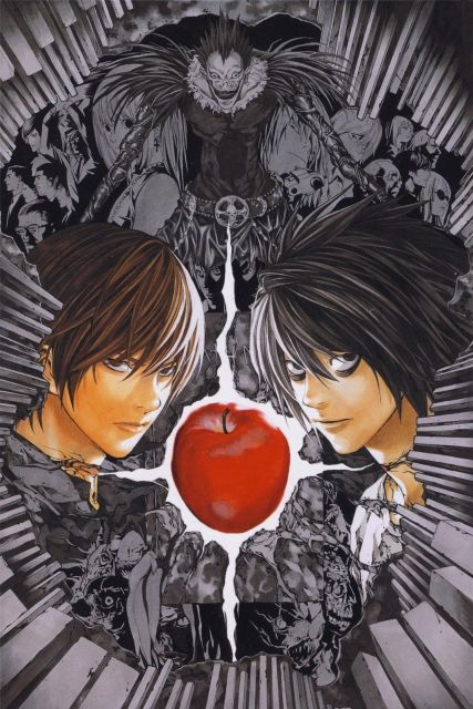 Death Note Poster Light vs L Anime Art Silk Wall Posters 12x18\ - death note