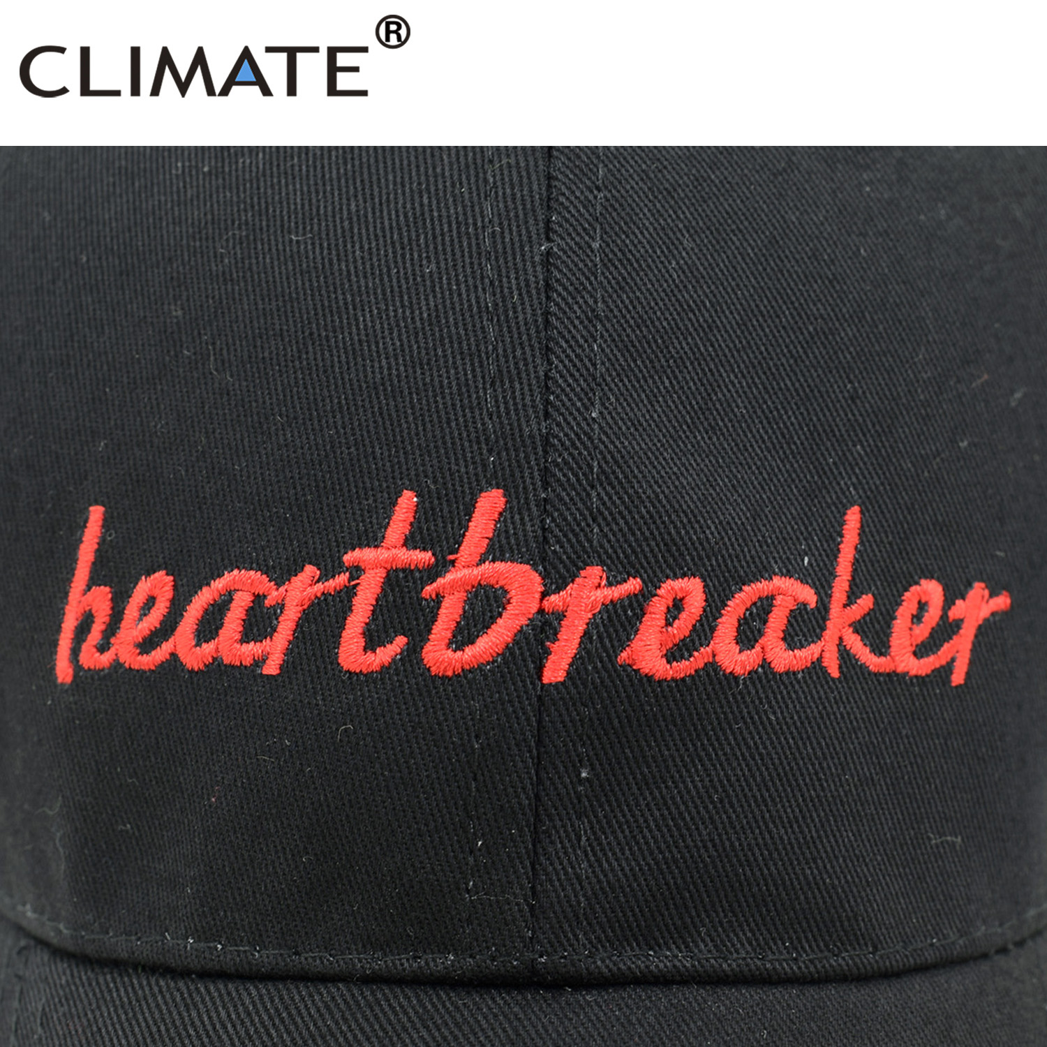 027dc7ef7 CLIMATE Women Men Heartbreaker Baseball Caps Black Dad Hat Cap Heart  Breaker Youth Cool Cotton Baseball Trucker Caps Hat Girl