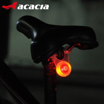 Akacja 1 sztuk rowerów włącz sygnał oświetlenie rowerowe światła rowerowe rower światło tylne bezpieczna lampa cyklu światła rowerowe Accessorios Led lampa rowerowa tanie i dobre opinie Sztyca Baterii 06329 ACACIA ISO9002 Blue Green Colorful LEDs Rear Light