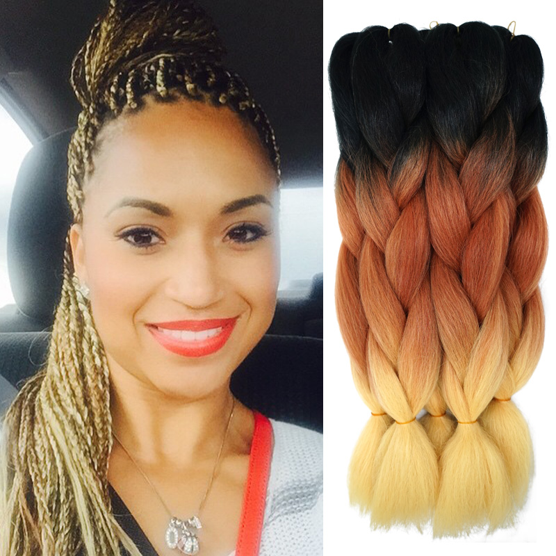 Crochet Styles With Xpression Hair : ... Crochet Box Braids Hair from Reliable ombre xpression braiding hair